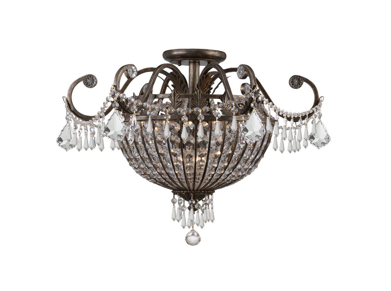 Best victorian dining room chandeliers reviews ratingsprices crystorama vanderbilt flushmount arubaitofo Choice Image
