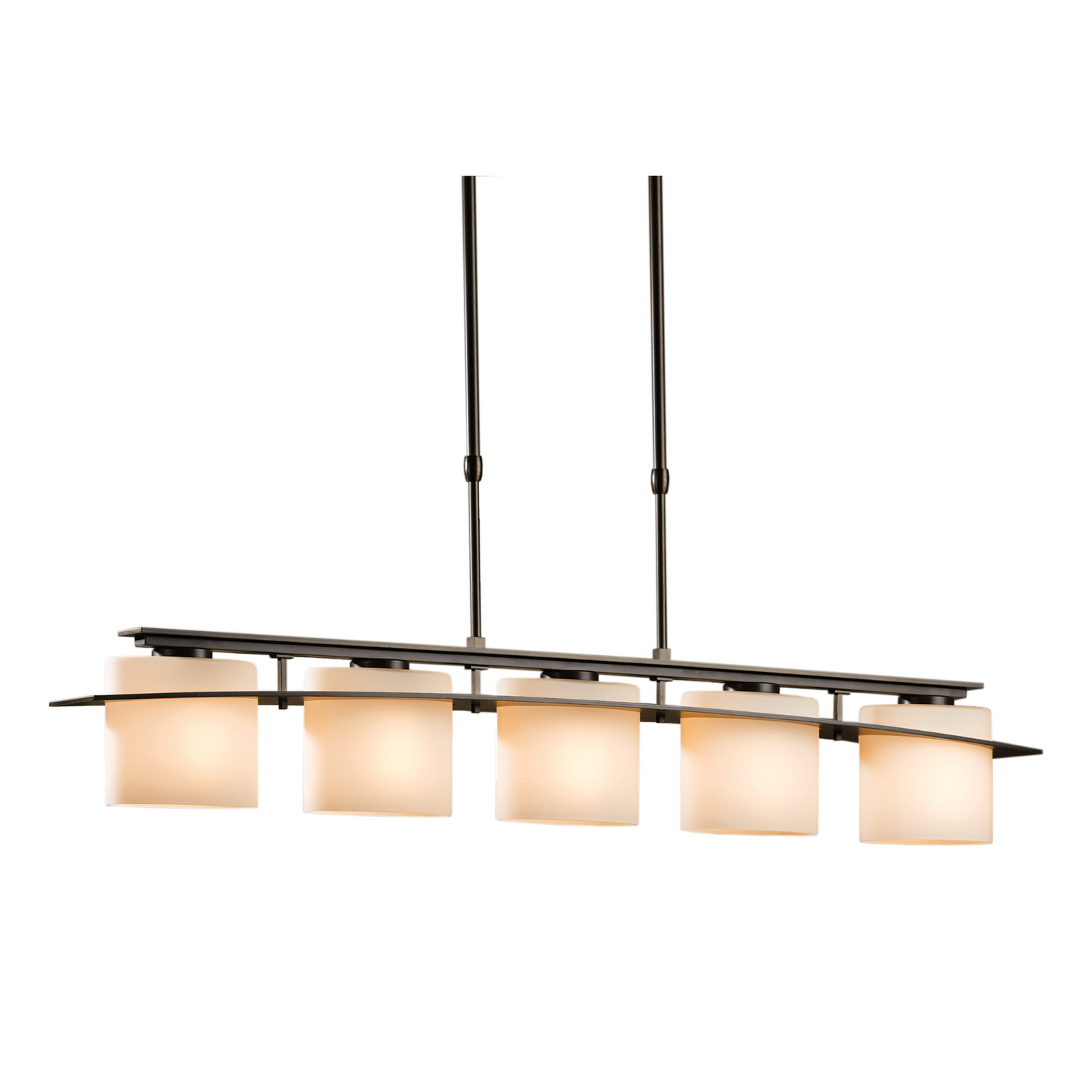 "Hubbardton Forge ""Arc Ellipse"" 5 Light Pendant American Craftsman Style Lighting"