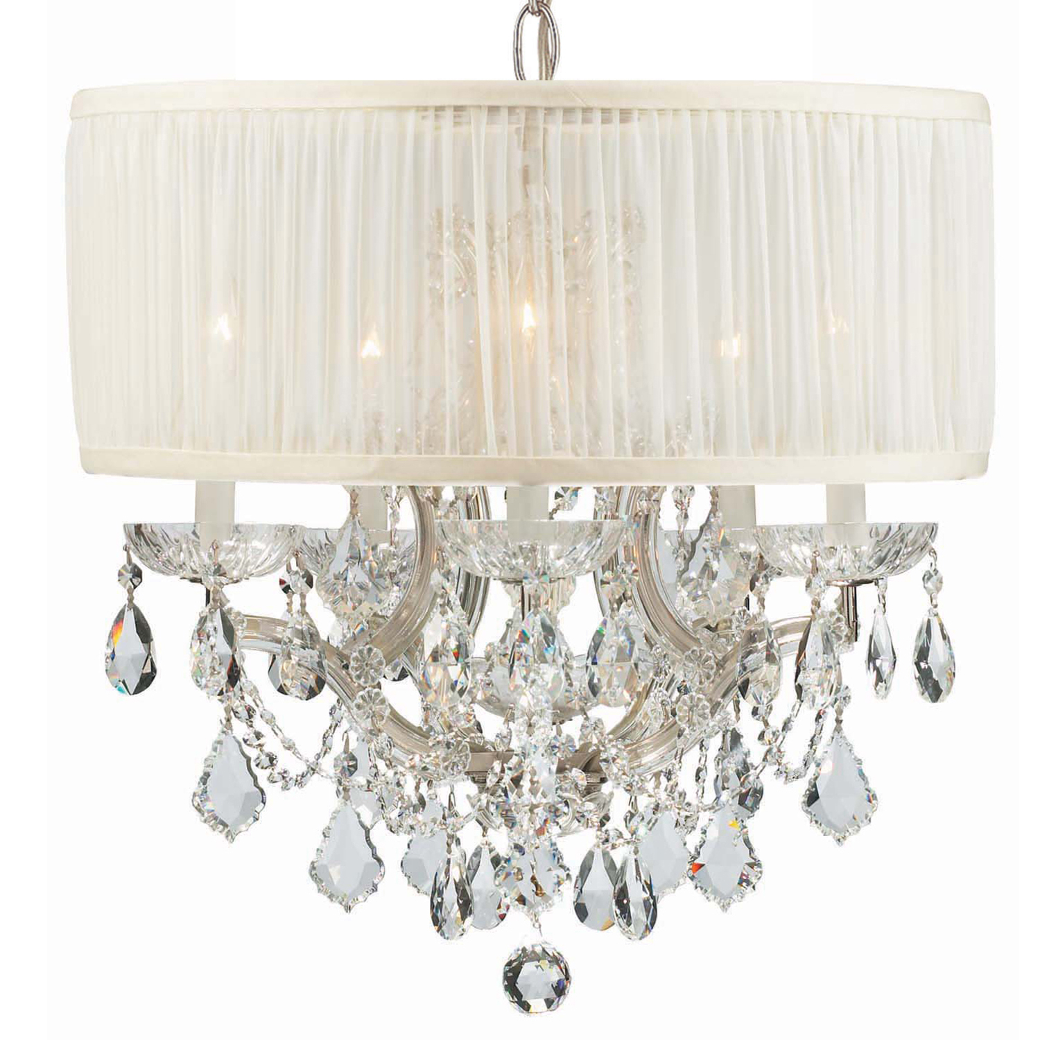 "Crystorama ""Brentwood"" Chandelier in Chrome neoclassical lighting"