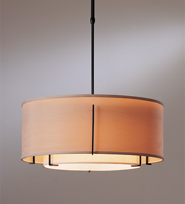 Hubbardton Forge Exos Double Shade Pendant best colonial lighting