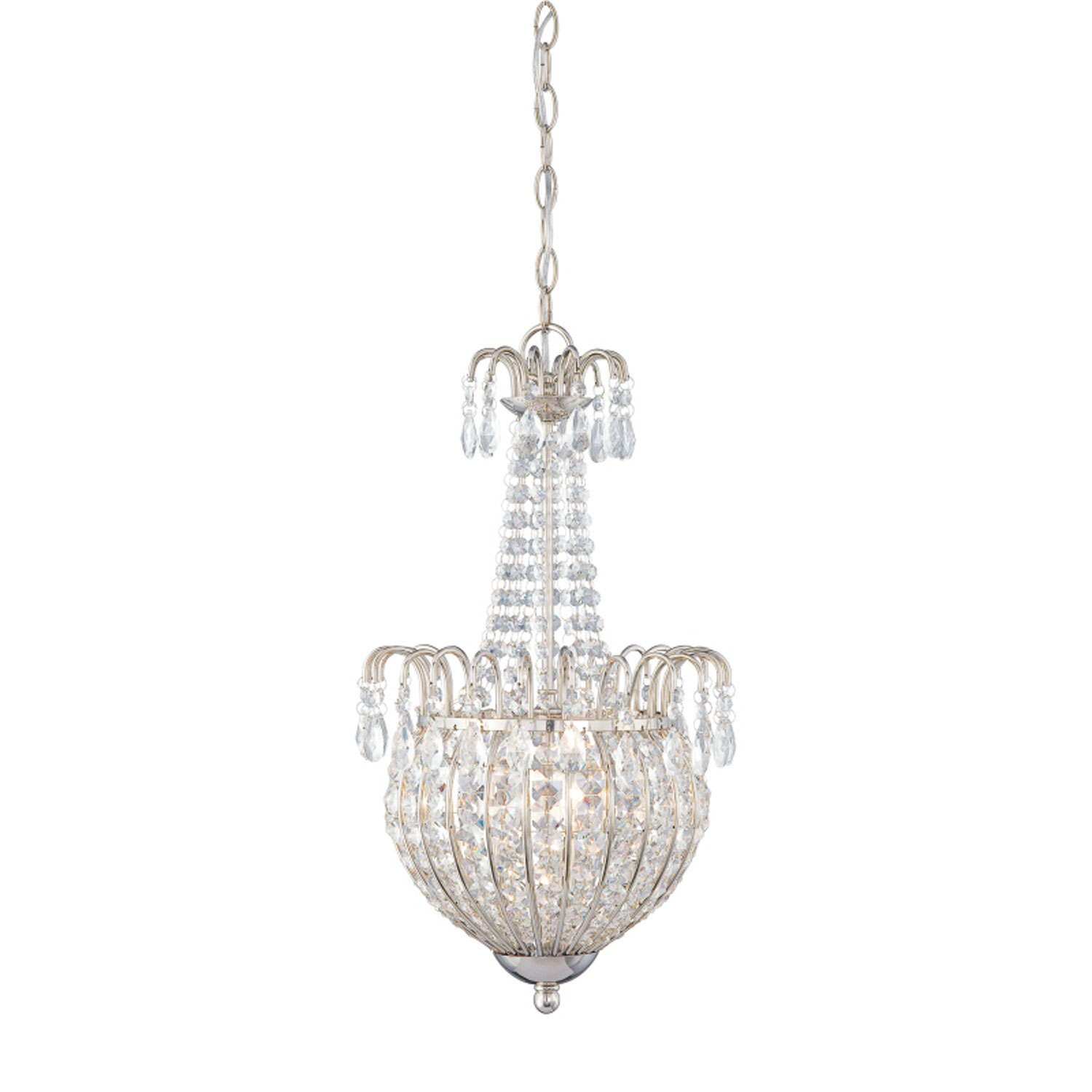 Choosing chandeliers for a traditional kitchen quoizel jolene chandelier in imperial silver finish best traditional chandelier arubaitofo Image collections