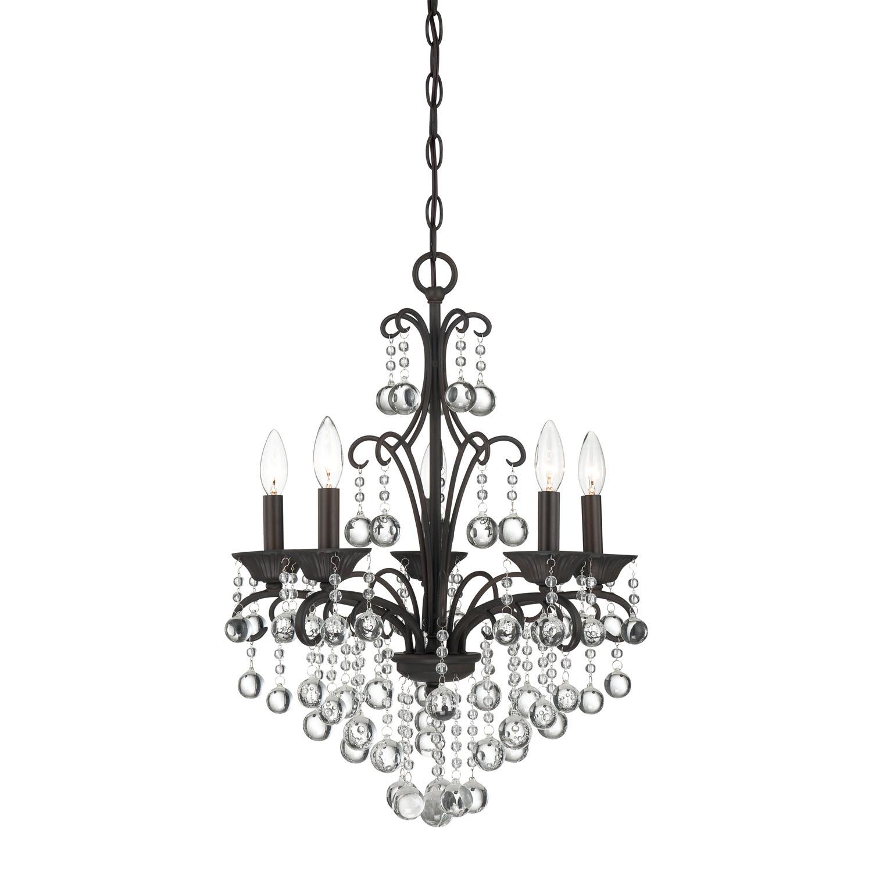 quoizel mini chandelier   five light mini chandelier