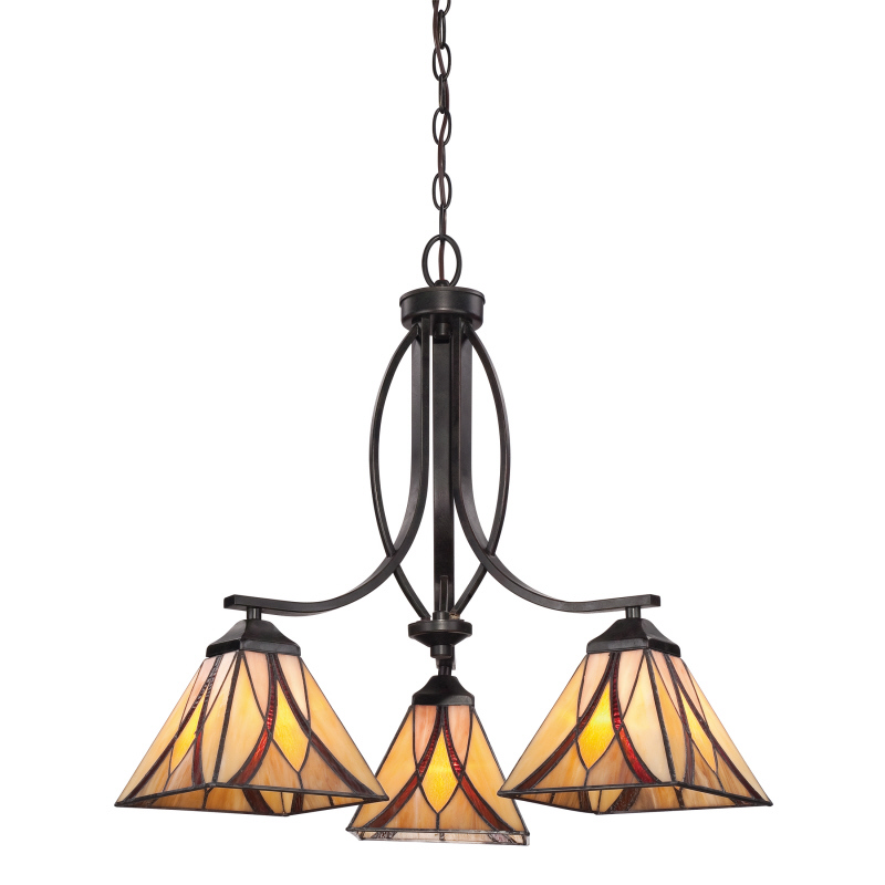 Quoizel Asheville Chandelier craftsman lighting