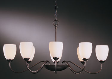 "Hubbardton Forge ""Oval"" Chandelier American Craftsman Style Lighting"