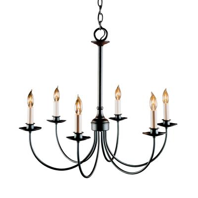 Hubbardton Forge Simple Lines Six Light Chandelier