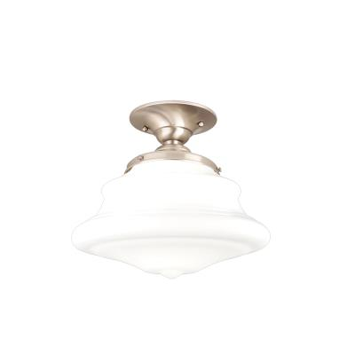 Hudson valley petersburg one light semi flush mount