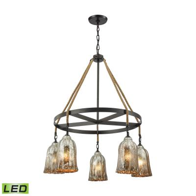 Elk Lighting Hand Formed Glass Five Light Chandelier