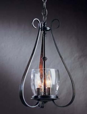 Hubbardton Forge Sweeping Taper Three Light Chandelier