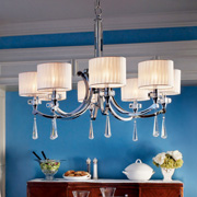 Chandeliers w/Shades at Friedman Electric