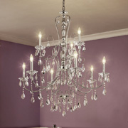 Crystal Chandeliers at Delta Lighting Center