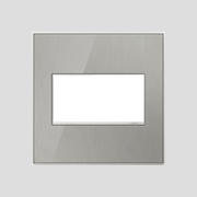 Brushed Steel Wall Plates at Black Whale Lighting