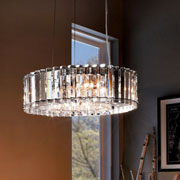Crystal Pendants at Delta Lighting Center