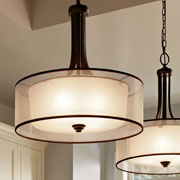 Pendants w/Shade at Delta Lighting Center