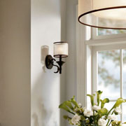 Sconces w/Shades at Friedman Electric